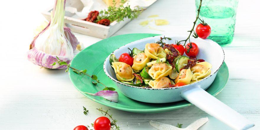 Salami Tortelloni Pfanne